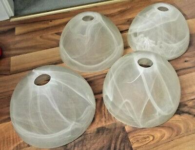 4x Lampenschirme,Glas,Weiß,Mamoriert,E14,17x10 cm,Leuchte,Lampe,Hängelampe,Tisch