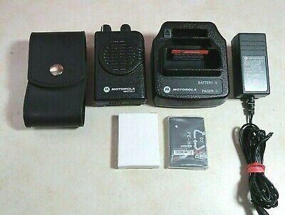 Motorola Minitor V 5 Stored Voice Vhf Pager 151-158.9975 Mhz Free Programming