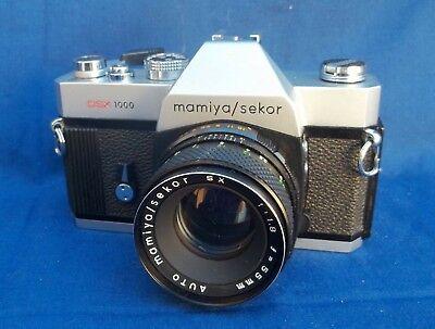 Old School SLR Film Camera Mamiya/Sekor DSX 1000 W/ Sekor SX 55mm Lense