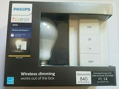 Philips Hue A19 Wireless Dimming Kit - White - 455386, New! Sealed!