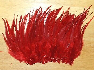 """1//4 oz 5-7/"""" in length Strung Yellow Saddle Hackle Feathers Fly Tying"""