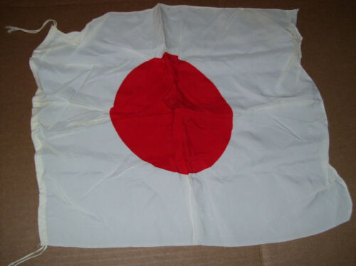 "Vintage Japanese Red Meatball Flag 16"" X 14"""