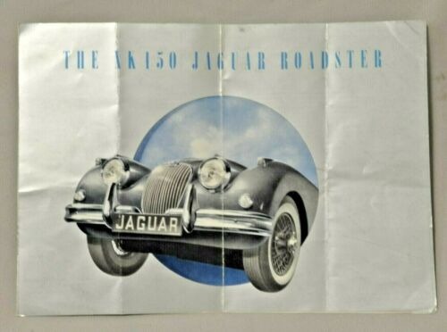 Jaguar 1958 XK150 & XK150 roadster brochure.
