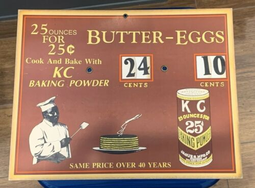 Vintage KC Baking Powder Butter Eggs Store Sign