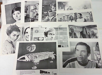 Vintage 1970s Set of 10 Space:1999  8x10 B&W Litho/Still- Warehouse Find