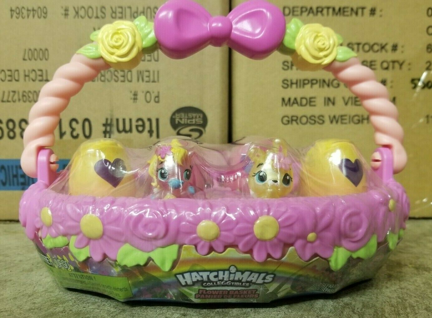 Hatchimals CollEGGtibles – Spring Easter Basket with 6 Hat