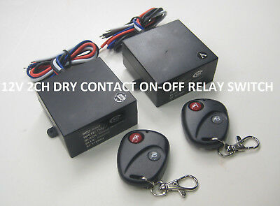 12v 15A 2 channels on off dry contact wireless relay remote control switch RP201