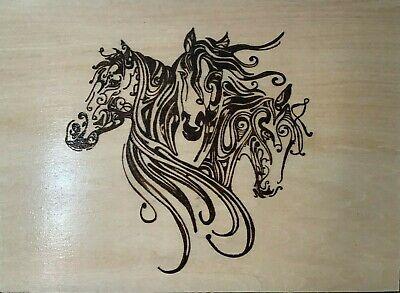 Horses - Wood Burning Wall Hanging