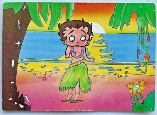 Betty Boop Hula Girl Card The Beginnings Michael Waldman Vtg 1980