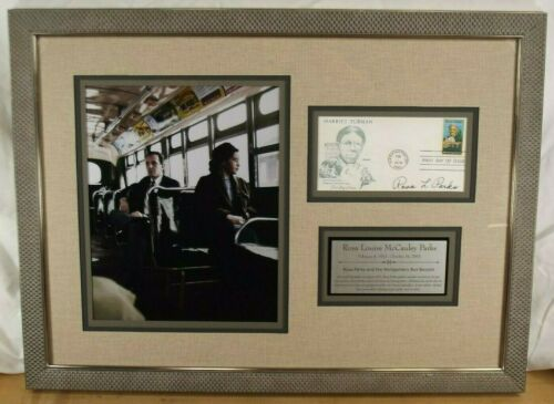 Rosa Parks Civil Right Activist Montgomery Bus Boycott Autograph Framed Display