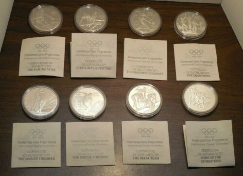 Olympic Centennial Sterling Silver Proof Collection - 8 Piece Coin Set W/ COA