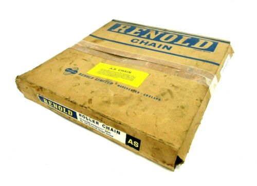 "NEW RENOLD 120 RIVETED SINGLE STRAND CHAIN 1-1/2"" PITCH 10"