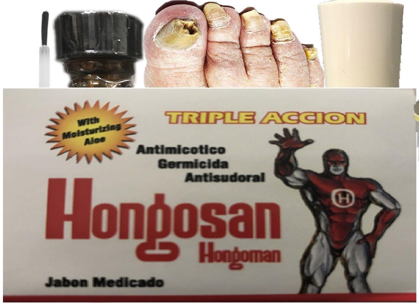 Loción Antihongos Tratamiento Antimicótico Para Infecciones Hongos Uñas piel kit 3
