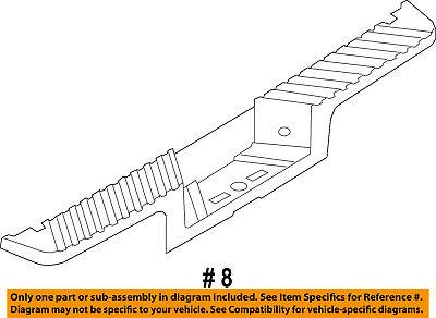 FORD OEM Rear Bumper-Step Pad Protector Guard Sill Plate DC3Z17B807CA