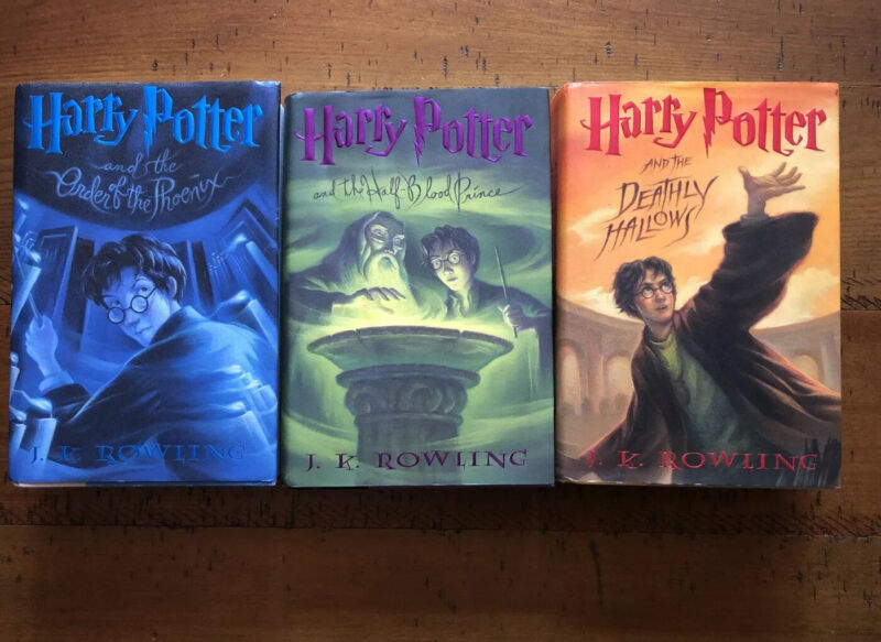 Harry Potter Hardcover Books 5 6 And 7 All First Editions