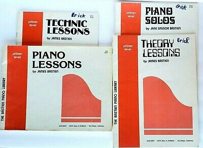 4 Piano Instruction Books Primer Level Lessons Technique Theory Solos by Bastien for sale  Shipping to South Africa