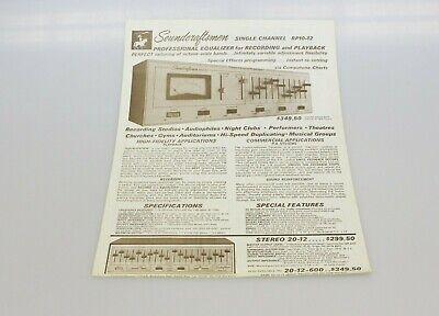 Soundcraftsmen Single Channel RP10-12 Advertising Dealer Ad Brochure Vintage