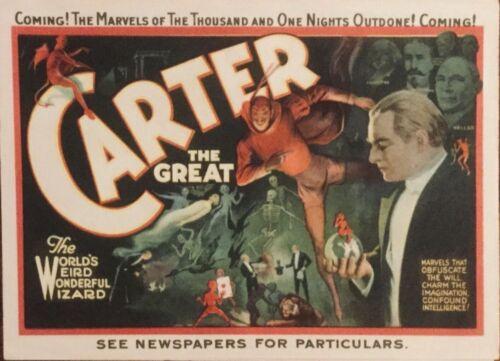 """Rare Original 1915 """"Carter the Great"""" Magician. 4-page. Rare Pristine Condition."""