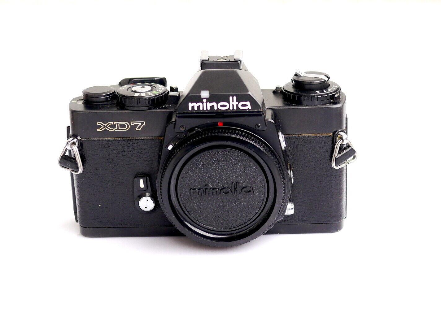 Minolta XD-7 Spiegelreflexkamera schwarz / black