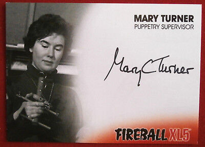 FIREBALL XL5 - MARY TURNER - PUPPETRY SUPERVISOR - AUTOGRAPH CARD MT1