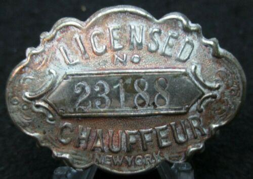 1911 New York Chauffeur Pin Badge 23188
