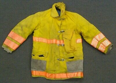 44x34 Globe Yellow Firefighter Jacket Coat Bunker Turn Out Gear J754