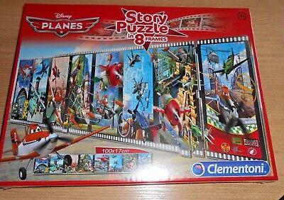 Story Puzzle Planes Disney in 8 Abschnitten - Filmszenen 100x17cm Kinder