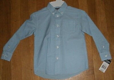 Chaps Boys Oxford Dress Shirt Light Blue Long Sleeves Sizes 5 7 8 18 New