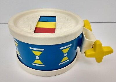 FISHER PRICE Vintage 1976 Musical Xylophone Xylo Kids Children Childs Drum #421