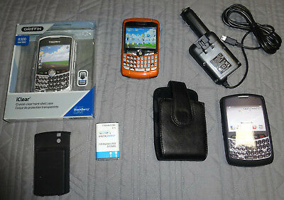 BlackBerry Curve 8320 Orange Unlocked Cell Phone Simple MetroPCS Mobile Cricket Metro Pcs Blackberry