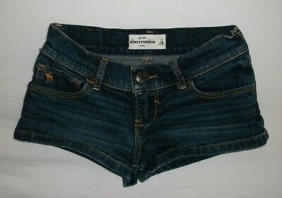 Girl's Abercrombie Kids Blue Denim Shorts sz 12 Stretch A8*