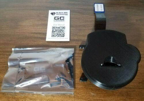 GC Loader PNP Black Dog Technology Nintendo GameCube w/ 3D Printed Tray Insert
