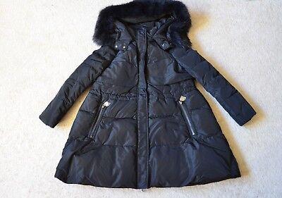Caroline Down Coat (Caroline Real Raccoon Trim Hooded Down Coat Size US)