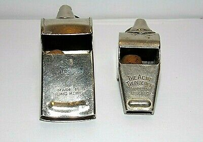 2-Vintage Whistles  (Acme Thunderer and one embossed with a lion)