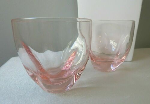 """3 AVAILABLE RUSSEL WRIGHT PINK """"PINCH"""" LOWBALL GLASSES BY  IMPERIAL. PRICE/EA."""