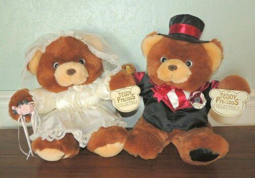DAN DEE Teddy Precious Collectible Bride Groom Wedding Plush Stuffed Bears TAGS!
