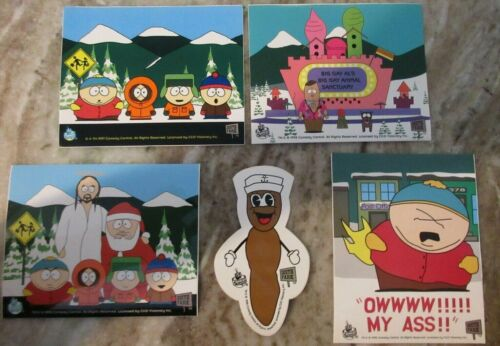 Lot of (5) 1997/98 South Park Comedy Central Sticker Decals NOS