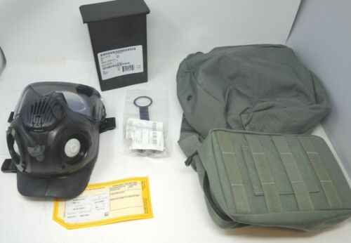 Avon M50 Military Issue Gas Mas w/M44 Filter Set & Carrying Case