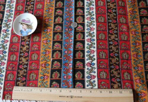 """Antique c1850-1860 Block Printed Ethnic/Indienne Fabric~L-17""""X W-24""""~Design"""