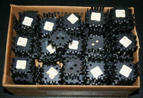 LOT OF (100) IERC UP-T03-B Black Aluminum Heat Sinks New Old Stock