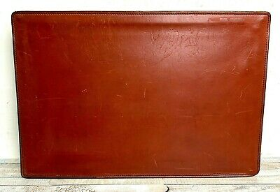 11.5x17 Vtg Schlesinger Brothers Brown Leather Zip Top Paper Holder Portfolio