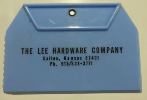 Vintage Ice Scraper Advertising THE LEE HARDWARE COMPANY Plastic SALINA, KANSAS