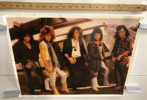 VINTAGE MUSIC POSTER Bon Jovi Group Portrait Classic Rock Living On A Prayer