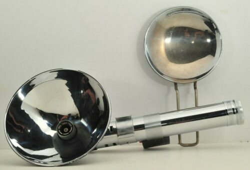 Chrome Heiland 3 Cell Flash Grip w/ Dishes   - For Lightsaber Mod?