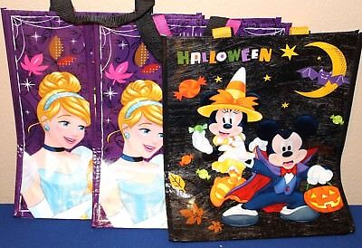 3 PC Disney PRINCESS Trick Or Treat Bag Halloween Holiday Spooky Party OR GIFT B - Disney Halloween Trick Or Treat Party
