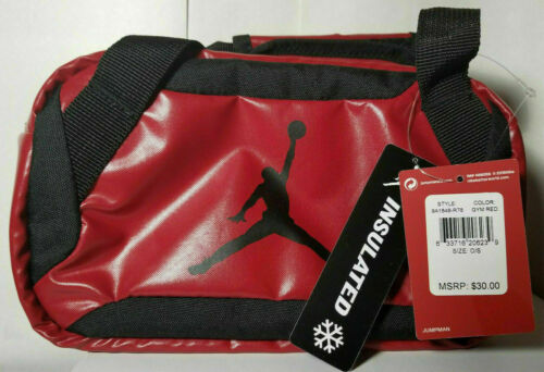 Nike Jumpman NWT Lunch Tote Insulated Bag Gym Red 9A1848-R78 Duffel