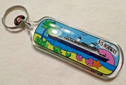 ss Norway . Norwegian Cruise Lines, Key Ring Cruise Ship Boat Tropical ex France