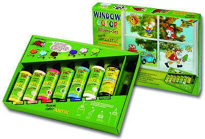 """Folia Window Color 7er Profi Set, """"funny color ANTIK"""" mit 20 Vorlagen - 45007"""