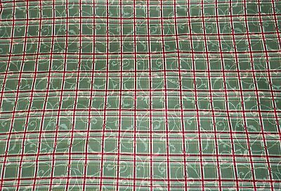 Maywood Studios 2 Yards Fabric Poinsettia With Metallic Green Quilting