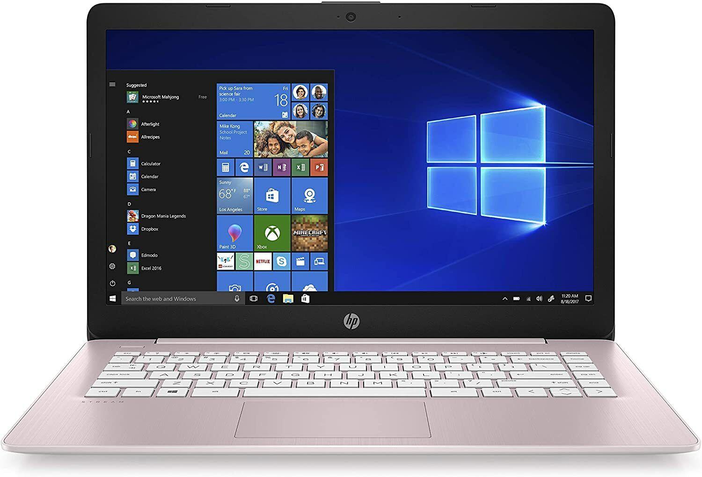 "Laptop Windows - HP Stream Pink 14-ds0040nr 14"" Laptop Windows 10 4GB Ram, 32GB eMMC Rose Pink"